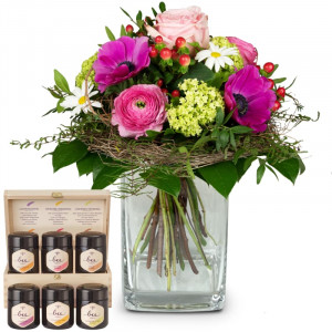 Soft Springmeadow with honey gift set